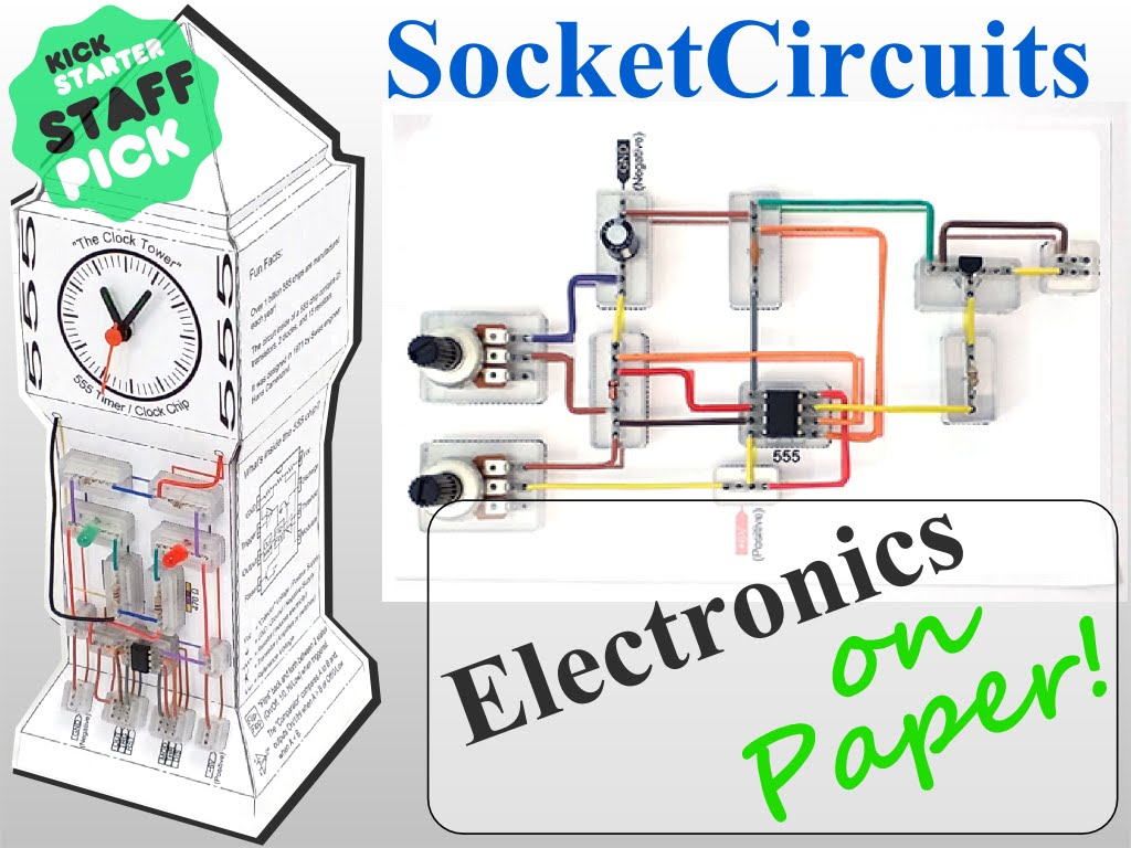 New Invention Socketcircuits Build Electronic Circuits On Paper Circuit Projects Diagram Future Ideas